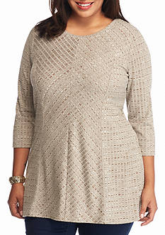 New Directions Plus Size Rib Knit Top