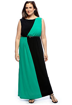 New Directions® Plus Size Lattice Back Maxi