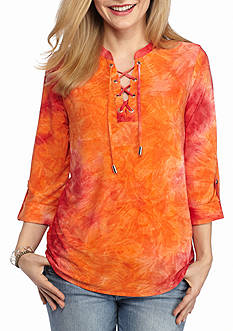 New Directions Petite Ombre Jacquard Top