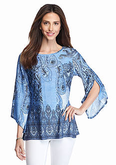 New Directions Petite Paisley Printed Tunic