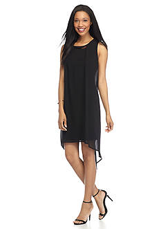 New Directions Petite High Low Chiffon Dress