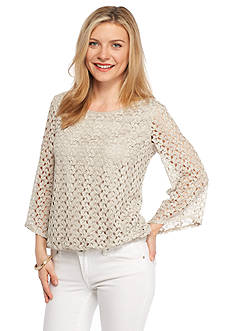 New Directions Petite Crochet Top