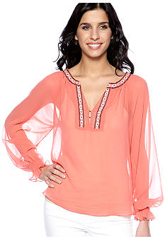 Sanctuary Embroidered Gypsy Blouse