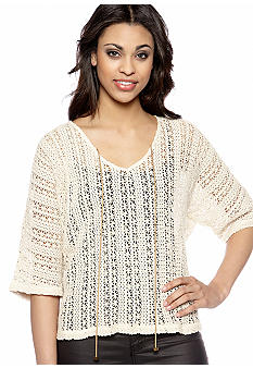 Sanctuary Crochet Dolman Top