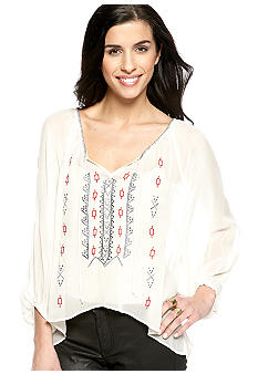 Sanctuary Embellished Gypsy Blouse