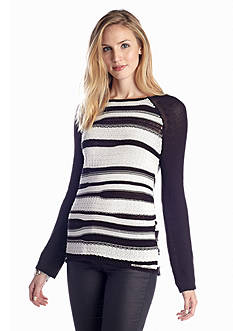 Sanctuary Long Sleeve Spliced Sweater