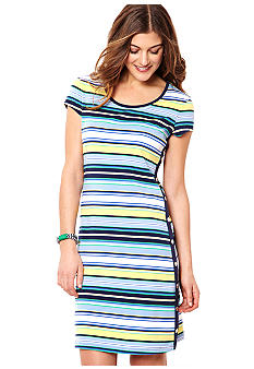 Nautica Striped Side Snap Dress