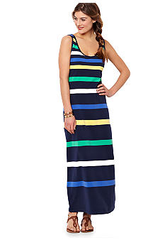 Nautica Striped Maxi Dress