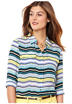Nautica Striped Chiffon Shirt