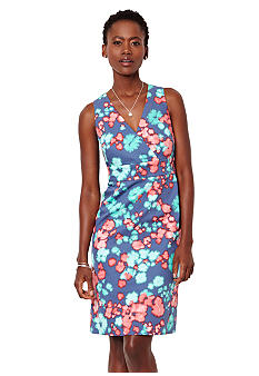 Nautica Floral Print Sheath Dress