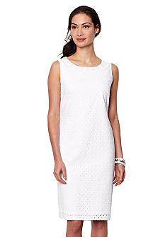 Nautica Eyelet Sheath Dress