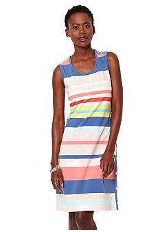 Nautica Sunset Striped Side Snap Dress