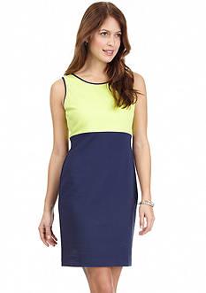 Nautica Sleeveless Ponte Colorblock Dress