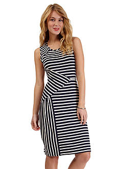 Nautica Stripe Pieced Dress