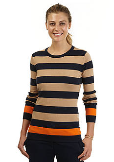 Nautica Striped Crew-Neck Sweater