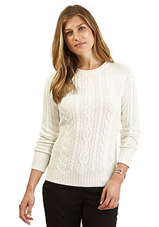 Nautica Cable Knit Raglan Sweater