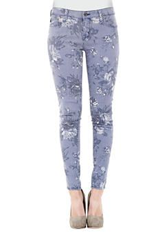 Big Star Alex Rose Printed Skinny Jean