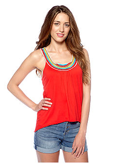 Big Star Shaina Crochet Neck Knit Tank