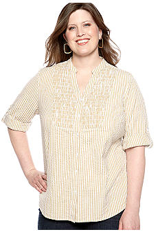 Kim Rogers Plus Size Seersucker Stripe