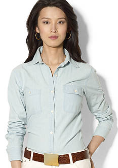 Lauren Jeans Co. Chambray Pocket Shirt