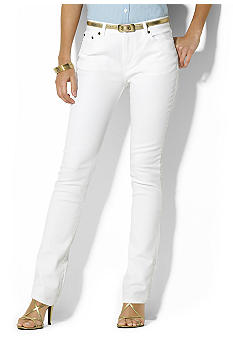 Lauren Jeans Co. Tanya Stretch Straight Logo Jean