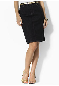Lauren Jeans Co. Lori Stretch Denim Skirt