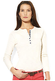 Lauren Jeans Co. Lafont Cotton Henley