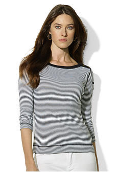 Lauren Jeans Co. Three-Quarter-Sleeved Boatneck Shirt