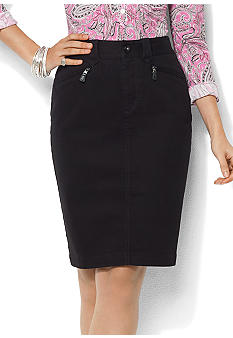 Lauren Jeans Co. Dark-Rinse Denim Skirt