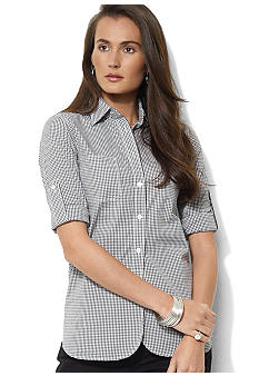 Lauren Jeans Co. Long-Sleeved Gingham Shirt