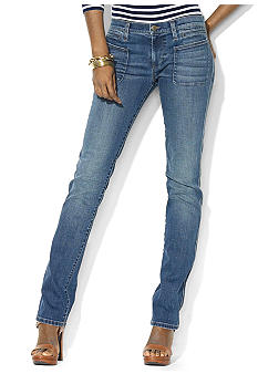 Lauren Jeans Co. Patch-Pocket Stretch Denim Skinny Jean
