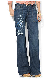 Lauren Jeans Co. Wide-Leg Graphic Jean