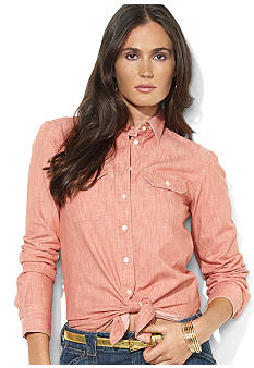 Lauren Jeans Co. Cotton Chambray Shirt