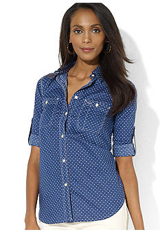 Lauren Jeans Co. Polka-Dot Classic Workshirt