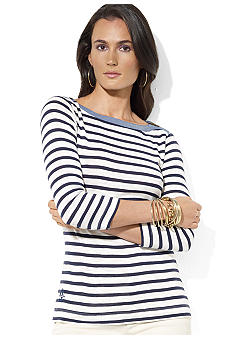 Lauren Jeans Co. Striped Boatneck Tee