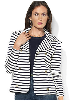 Lauren Jeans Co. Striped Double-Breasted Jacket