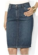 Lauren Jeans Co. Straight Denim Skirt