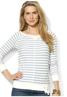 Lauren Jeans Co. Striped Scoopneck Pullover