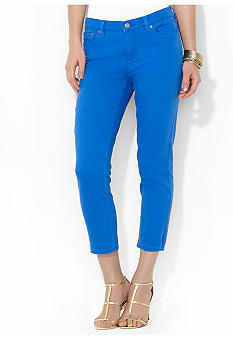 Lauren Jeans Co. Slimming Cropped Straight Jeans
