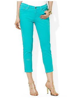 Lauren Jeans Co. Slimming Cropped Straight Jean
