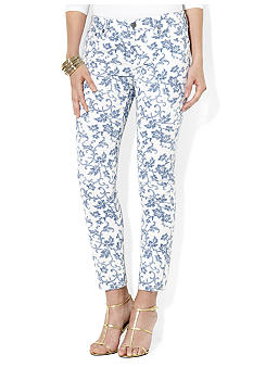 Lauren Jeans Co. Floral Straight Ankle Jean