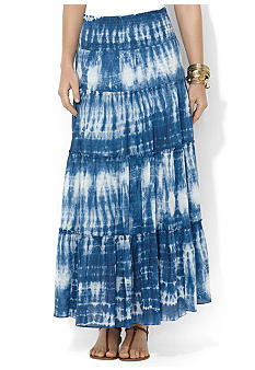 Lauren Jeans Co. Tie-Dye Smocked Cotton Skirt