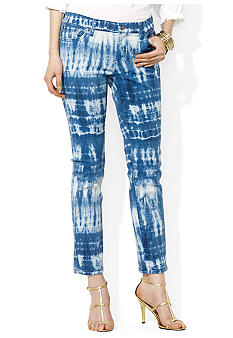 Lauren Jeans Co. Tie-Dye Straight Ankle Jean