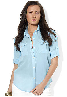 Lauren Jeans Co. Roll-Sleeve Cotton Workshirt