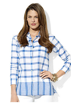 Lauren Jeans Co. Plaid & Striped Workshirt