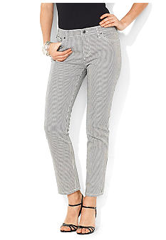 Lauren Jeans Co. Modern Striped Straight Ankle