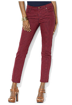 Lauren Jeans Co. Modern Straight Printed Ankle Jean