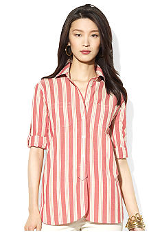 Lauren Jeans Co. Striped Cotton Workshirt