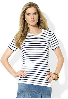 Lauren Jeans Co. Striped Cotton Crewneck Tee
