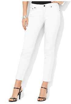 Lauren Jeans Co. Slimming Modern Straight Ankle Jean